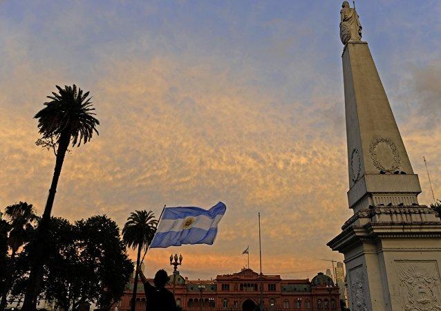 La bandera de Argentina (archivo)