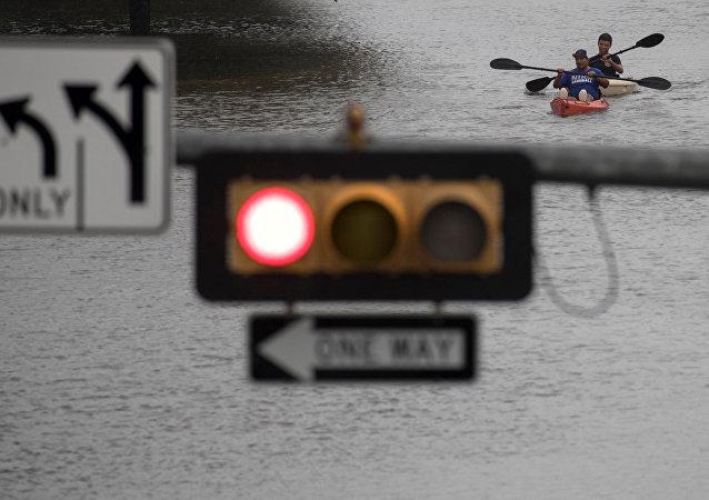 Consecuencias del huracán Harvey en Texas, EEUU (archivo)
