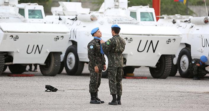 Los cascos azules de la ONU (archivo)