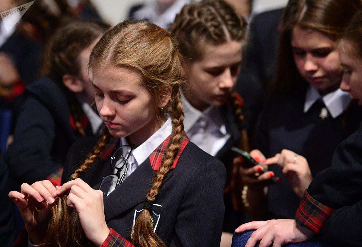 Las alumnas del Internado del Ministerio de Defensa de Rusia