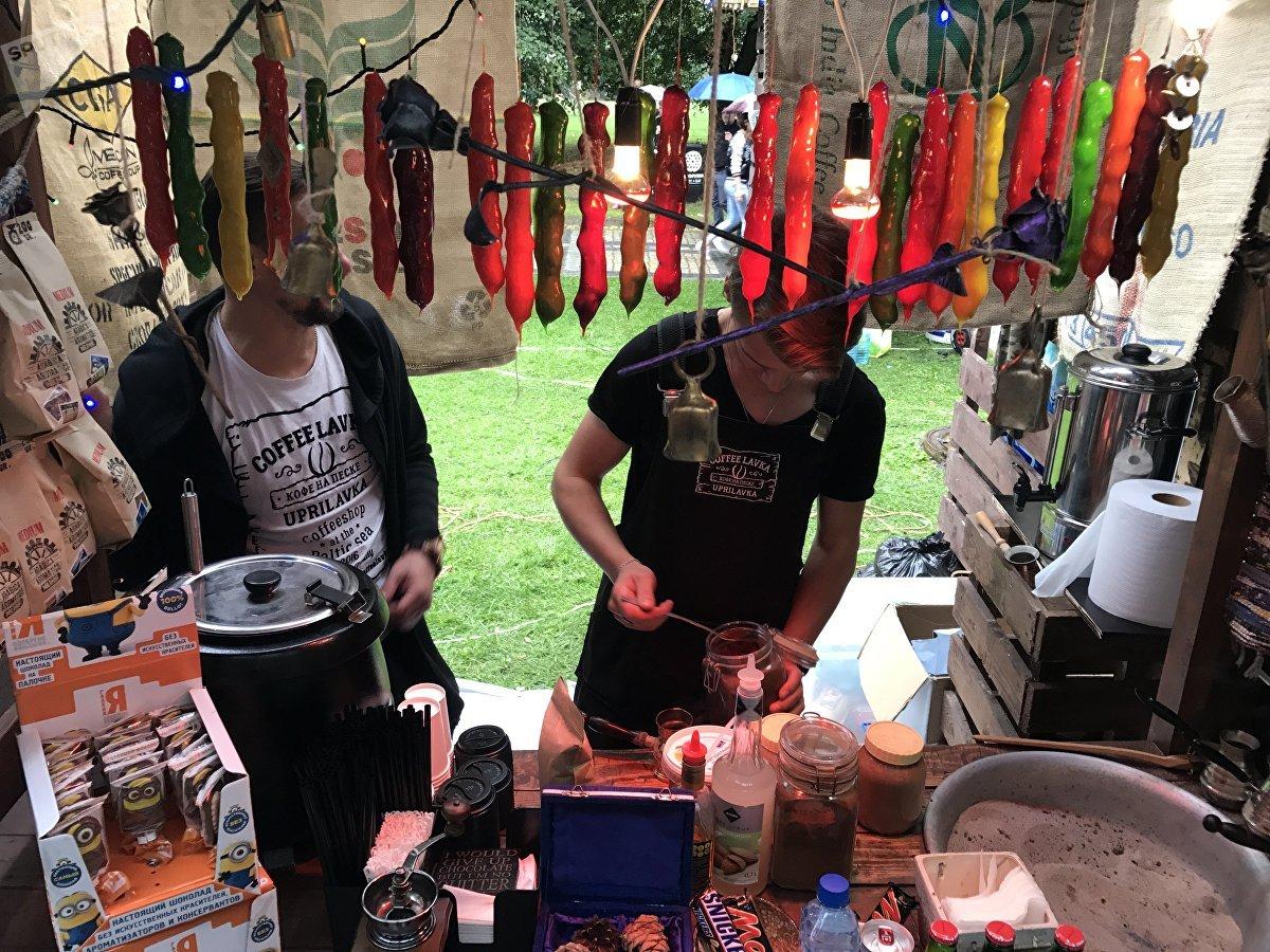 Uno de los puestos gastronómicos del Street Food Festival de Kaliningrado