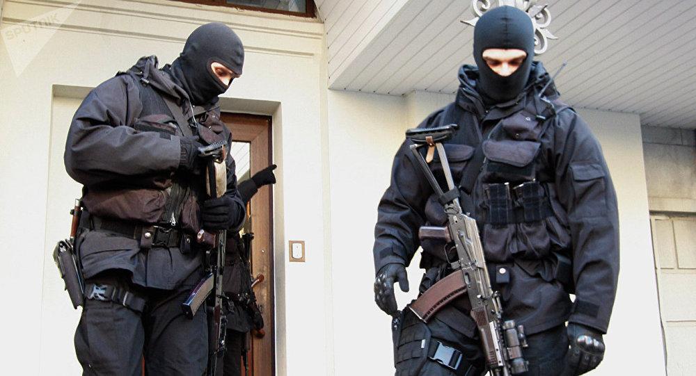 Soldados del Servicio de Seguridad de Ucrania