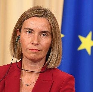Federica Mogherini, alta Representante de Política Exterior de la Unión Europea.