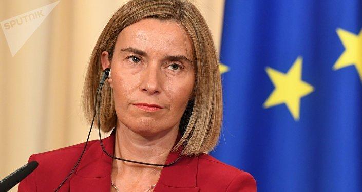 Federica Mogherini, jefa de la diplomacia de la Unión Europea