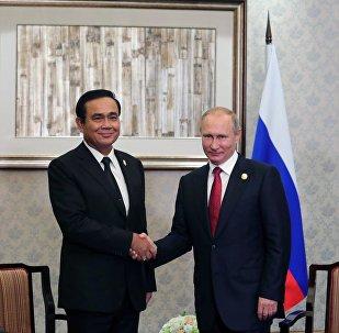Presidente de Tailandia, Prayut Chan-o-cha, y presidente de Rusia, Vladímir Putin