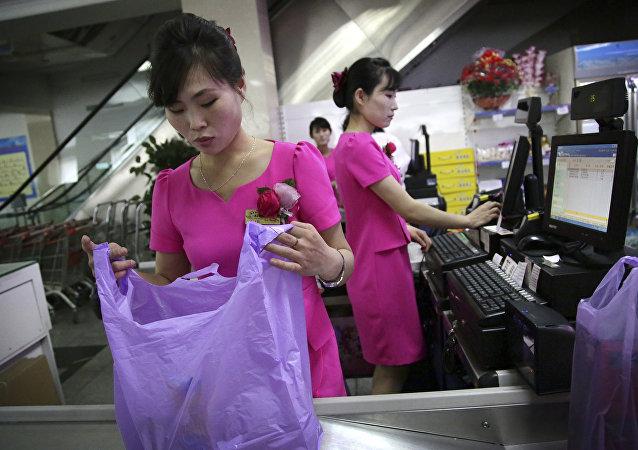 Potonggang, una tienda en Pyongyang administrada por el Estado