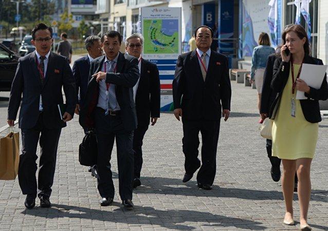La delegación norcoreana llega a Vladivostok para participar en el Foro Económico Oriental