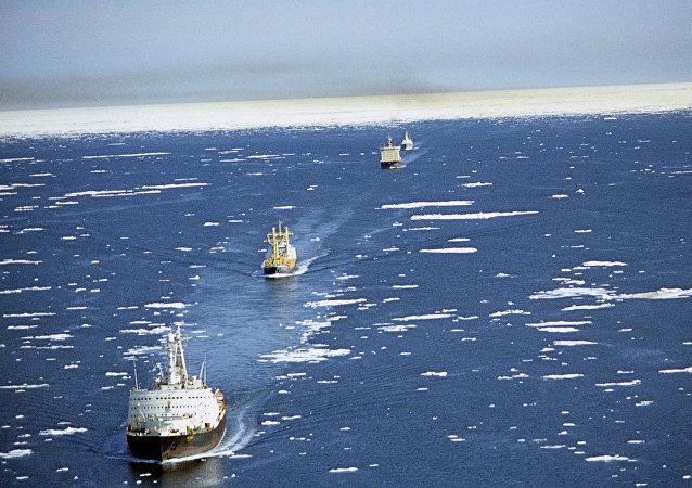 Ruta Marítima del Norte (imagen referencial)