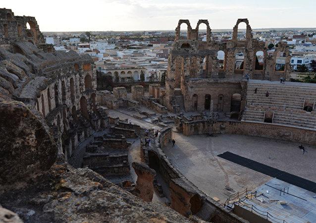La ciudad de El Djem, Túnez (imagen referencial)