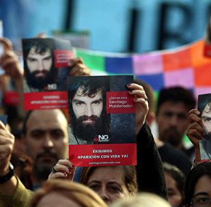 Manifestación en Buenos Aires, Argentina, por la desaparición de Santiago Maldonado (archivo)