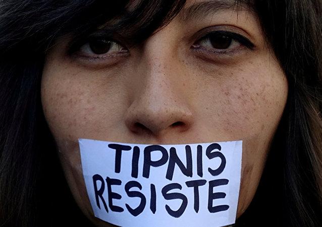 Activista en contra de las políticas del Gobierno boliviano en el TIPNIS