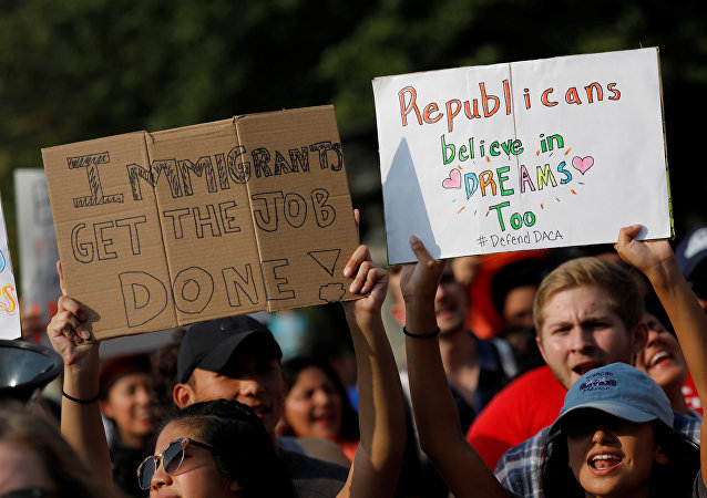 La manifestación a favor de DACA en EEUU
