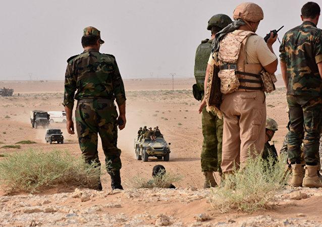 Militares del Ejército sirio (archivo)