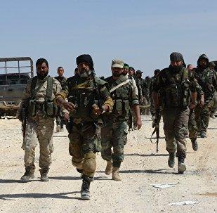 Los soldados del Ejército sirio