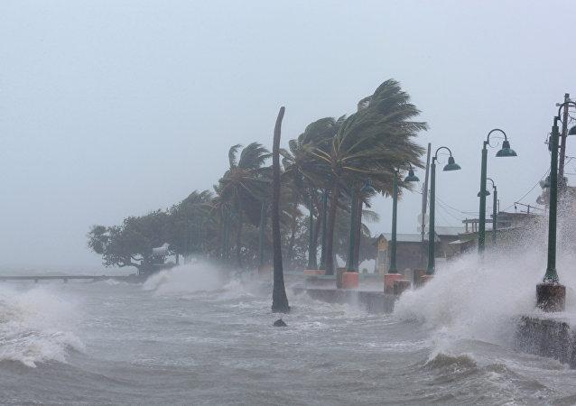 La llegada del huracán Irma en Puerto Rico