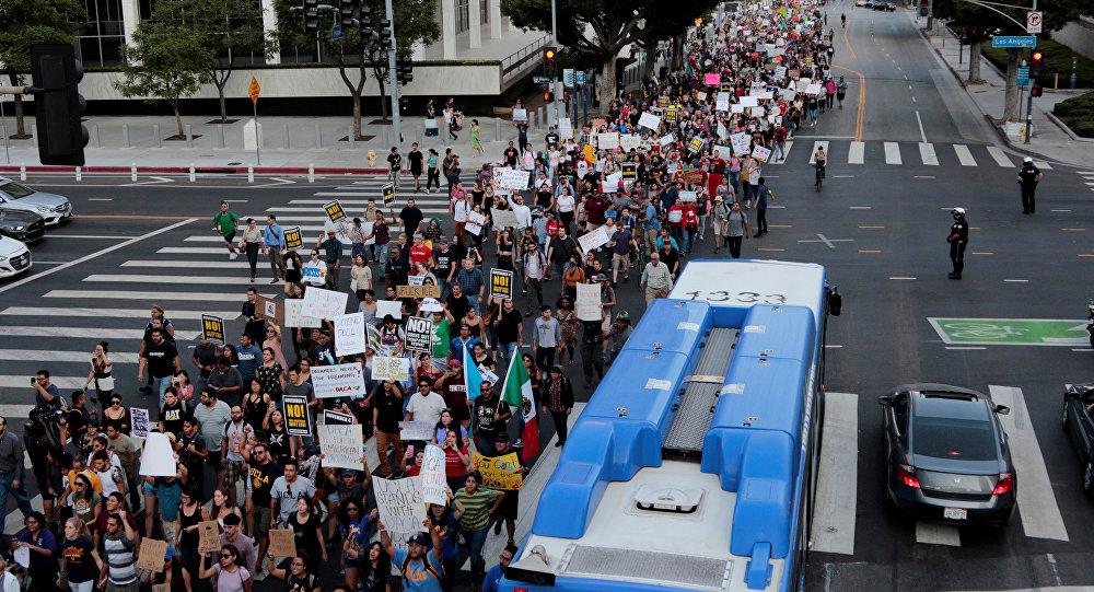 Protesta a favor del DACA en EEUU
