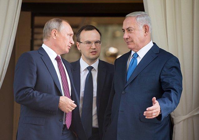 Vladímir Putin, presidente de Rusia, (izda.) y Benjamín Netanyahu, primer ministro de Israel (drcha.) (archivo)