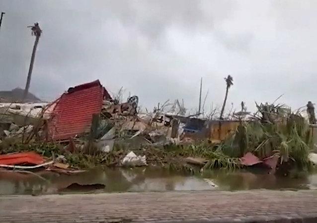 Los devastadores efectos del paso del huracán Irma por el Caribe