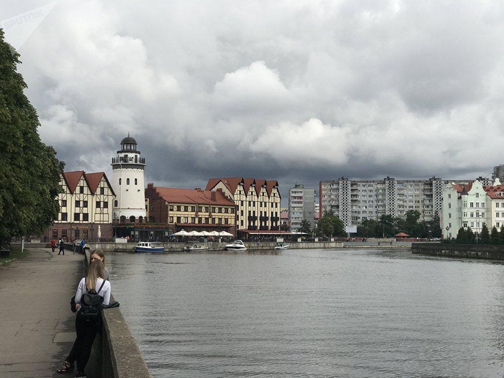 Las casas al estilo alemán son típicas en Kaliningrado