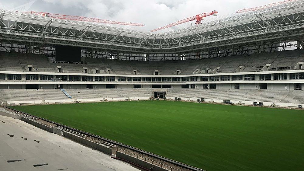 El campo de fútbol del Estadio de Kaliningrado
