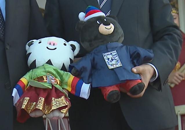 Un oso y un tigre: los regalos del líder surcoreano a Putin