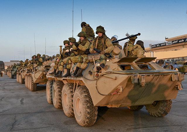 Soldados rusos en Siria (imagen referencial)