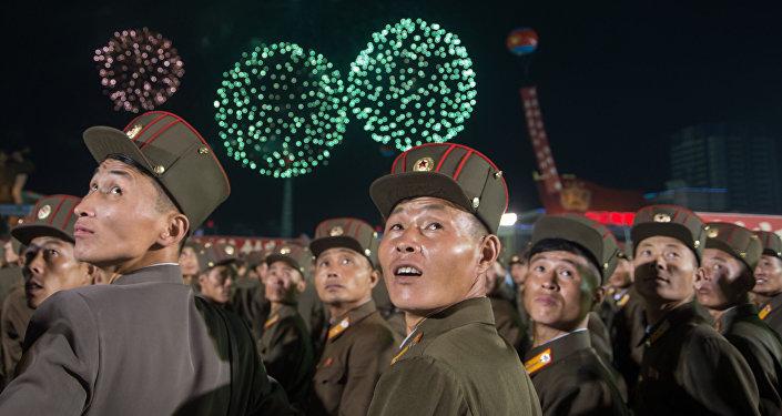Las celebraciones en Pyongyang tras el exitoso ensayo de la bomba de hidrógeno, Corea del Norte (archivo)