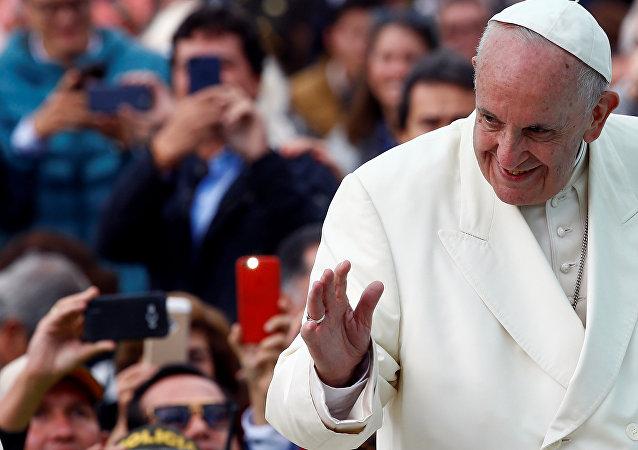 El Papa Francisco en Bogotá, Colombia (archivo)