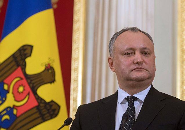 Igor Dodon, presidente de Moldavia (archivo)