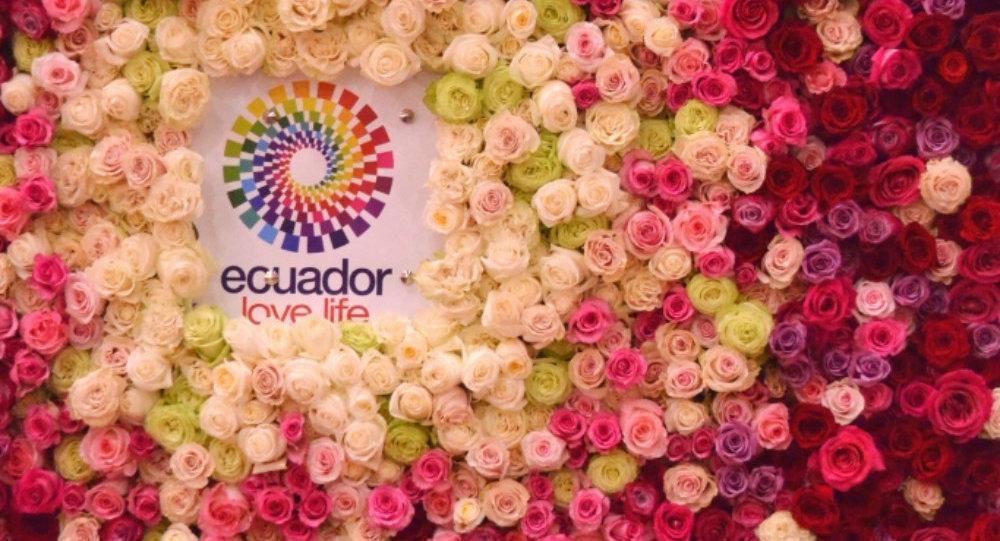 El logo de Ecuador en la feria Flowers Expo 2017