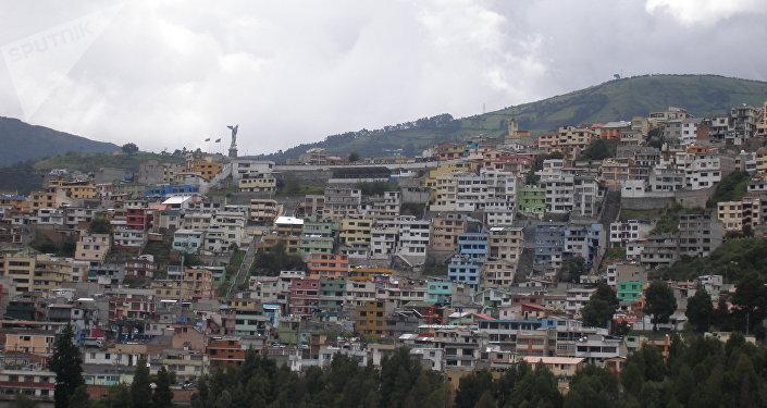 La vista de Quito, Ecuador
