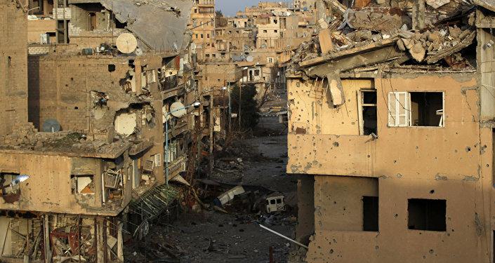 Edificios destruidos en Deir Ezzor (imagen referencial)