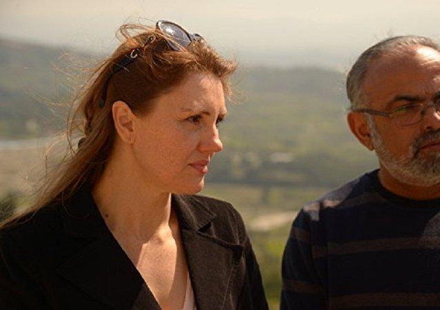 Irina Assaf con su marido Ibrahim
