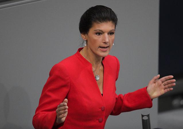 La candidata a las federales alemanas, Sahra Wagenknecht, en una imagen de archivo