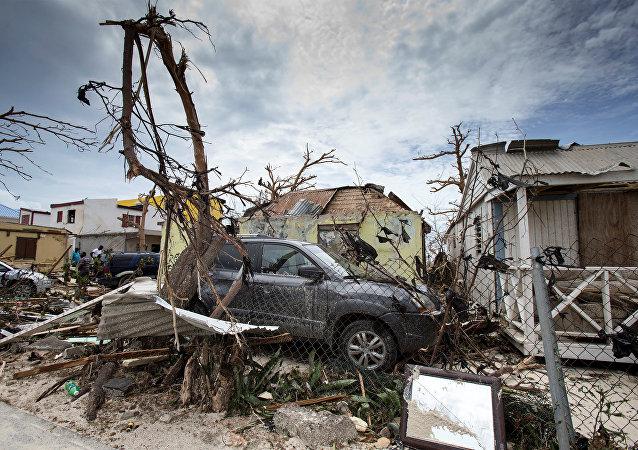 Las consecuencias del huracán Irma en Saint Martin