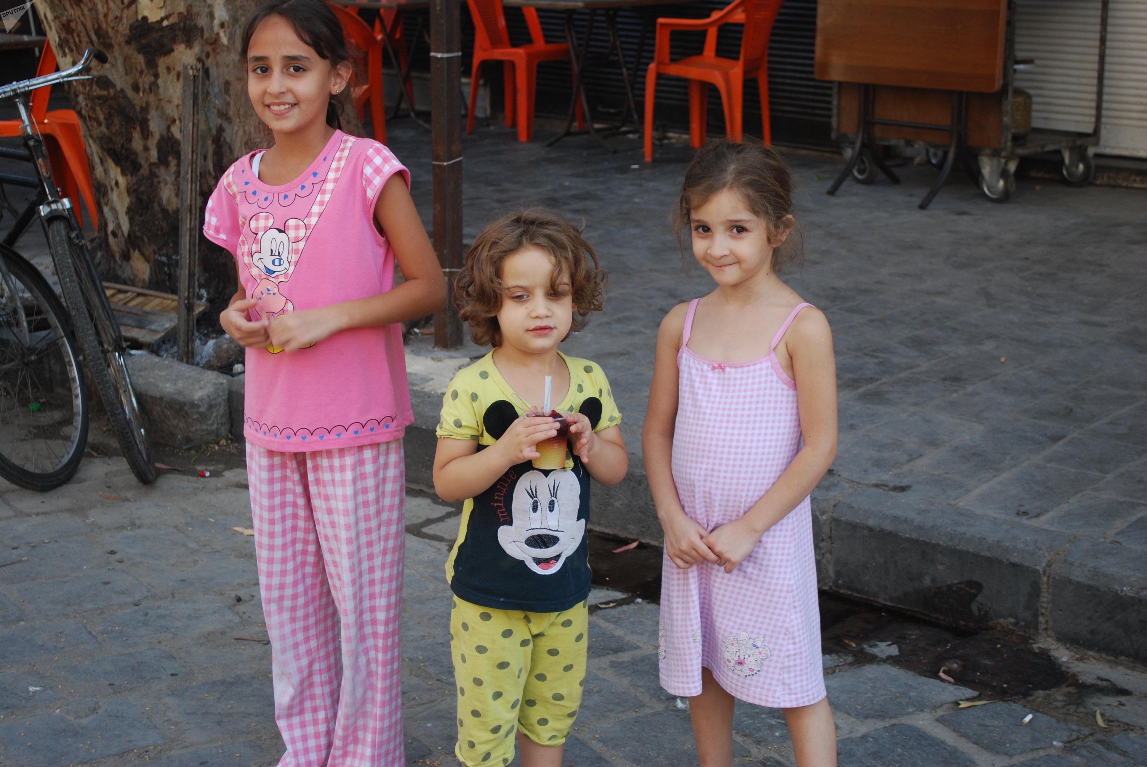 Niñas de la ciudad siria de Deir Ezzor