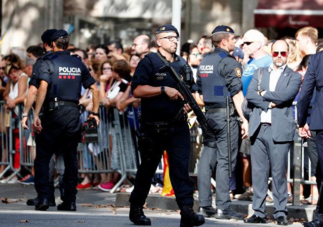 Mossos d'Esquadra en Barcelona (archivo)