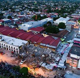 Vista del daño causado por el terremoto en Juchitan de Zaragoza, en el sureño estado mexicano de Oaxaca
