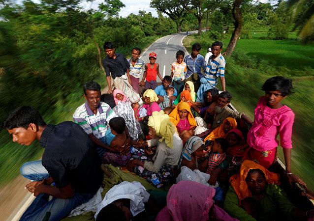 Refugiados rohinyás en Bangladés (archivo)