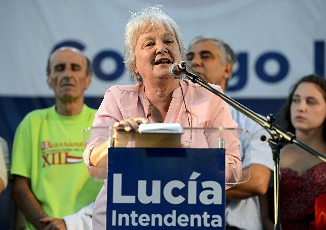 Lucía Topolansky, vicepresidenta de Uruguay (archivo)