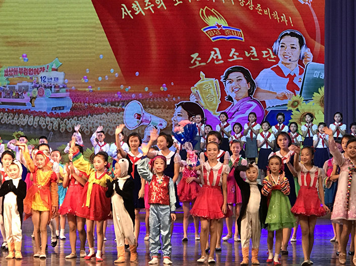 Un espectáculo infantil en Corea del Norte