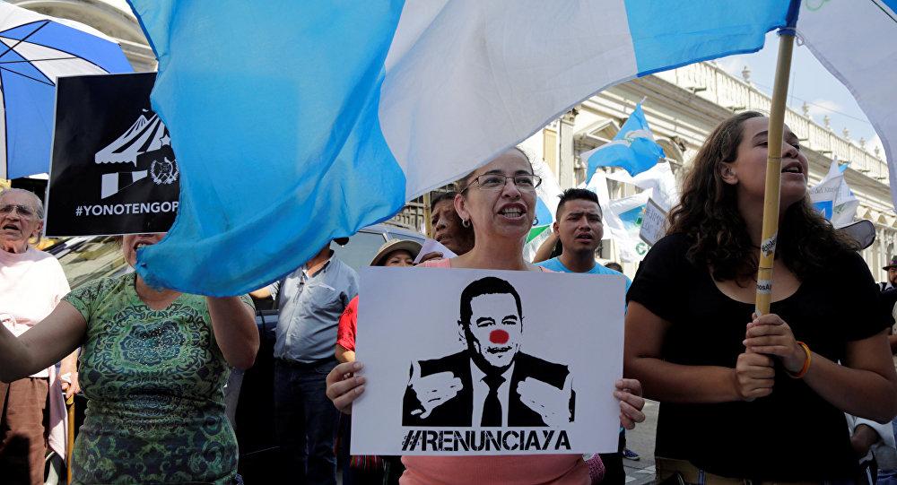 Protestas contra el presidente Jimmy Morales en Guatemala
