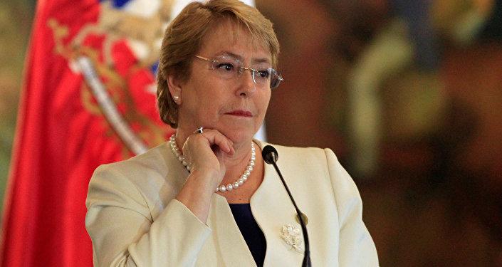 Michelle Bachelet, presidenta saliente de Chile