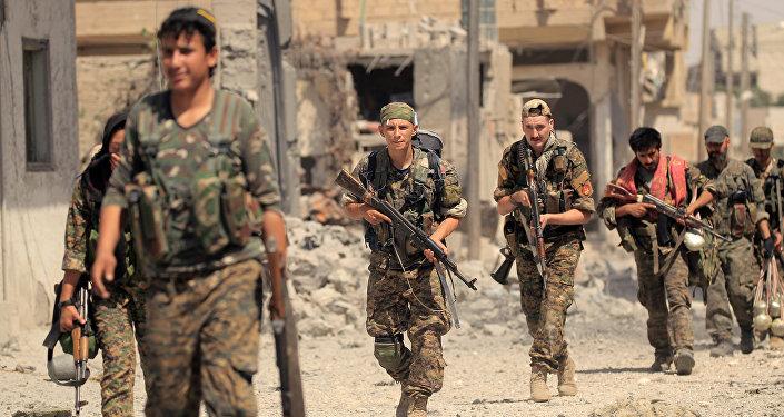Soldados de las Fuerzas Democráticas sirias