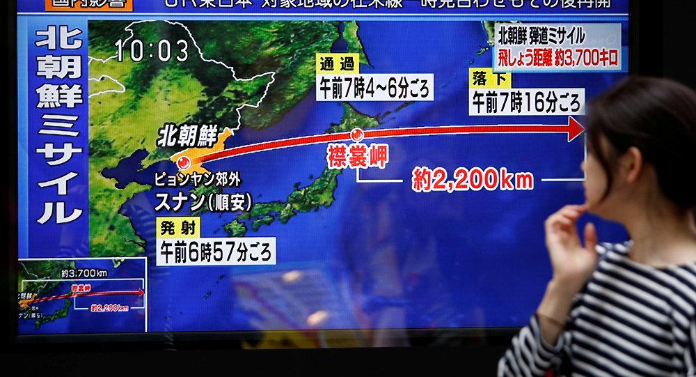 Lanzamiento de un misil balístico por Corea del Norte