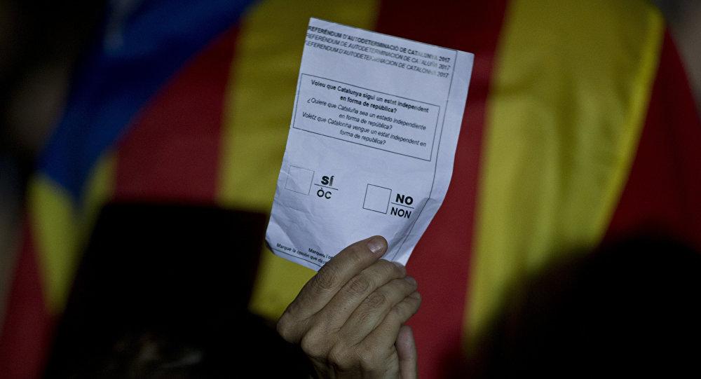 Un boletín no oficial del referéndum de autodeterminación de Cataluña