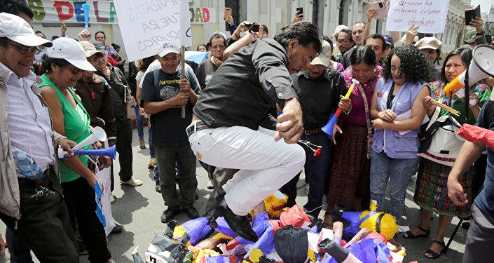 Protestas contra corrupción en Guatemala