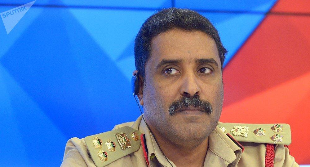 El portavoz del Ejército Nacional de Libia, Ahmad Mismari