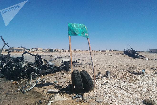 Las afueras de la localidad de Akerbat, el principal bastión de Daesh en la gobernación de Hama, Siria