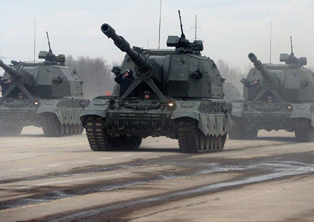 Los sistemas de artillería autopropulsados Koalitsia-SV